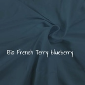 BIO French Terry blueberry