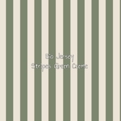 BIO Jersey Stripes green creme