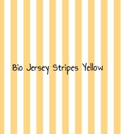 BIO Jersey Stripes yellow