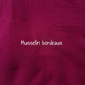 Musselin bordeaux