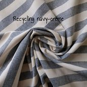 Recycled navy-creme