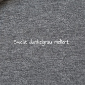 French Terry Sweat dunkelgrau meliert
